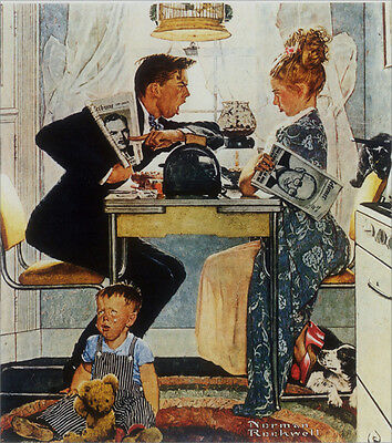 Norman Rockwell Couple/'s First Silver Giclee Canvas Print Paintings Poster Repro