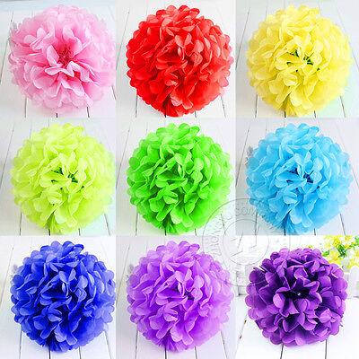 10'' Wedding Party Home Birthday Tissue Paper Pom Poms Flower Balls Décor