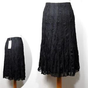 e63fa925f9c New PER UNA Crinkle LACE A-Line SKIRT ~ Var Sizes ~ BLACK