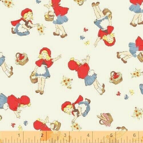 1YD LITTLE RED RIDING HOOD Fairy Tale Nursery Baby Whistler Studios Windham