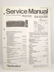 technics original service manual sa gx390 receiver ebay rh ebay com service manual gx390 Honda GX390 Manual PDF