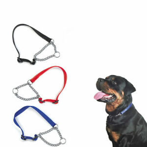 DOG-ADJUSTABLE-HALF-SEMI-CHOKE-CHOKER-CHECK-CHAIN-NYLON-TRA-COLLAR-N6C2-TRA-Q6P0