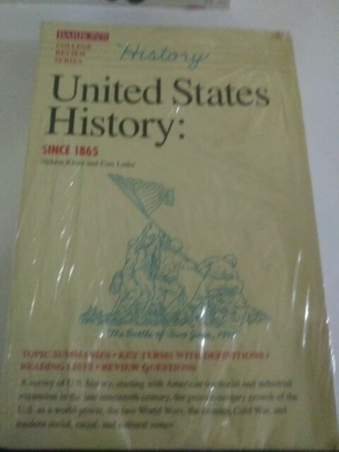 United States History Since 1865 College Review Paperback Barrons paperback book
