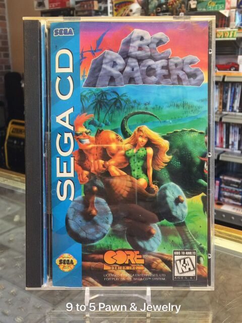 BC Racers (Sega CD, 1995) Complete #9to5pawn