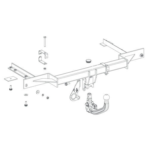 Est 2010-2015 Detachable Tow Bar Oris Towbar for Vauxhall Astra Estate