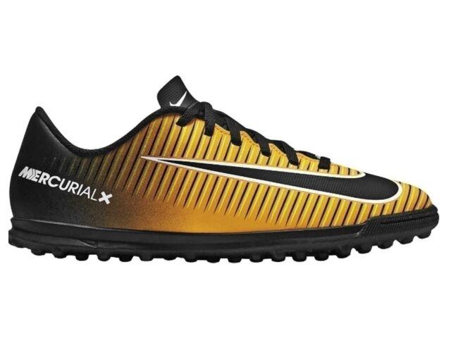 Dettagli su Scarpe Calcetto Bimbo Nike Mercurial Victory 6 DF TF 903604 801 Arancione nero
