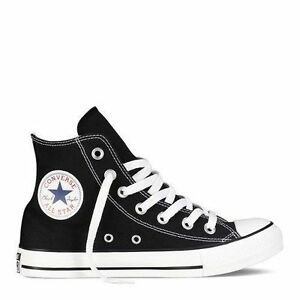 594c4b170e17d7 Converse Hi Top All Star Chuck Taylor Black White Mens Womens Shoes ...