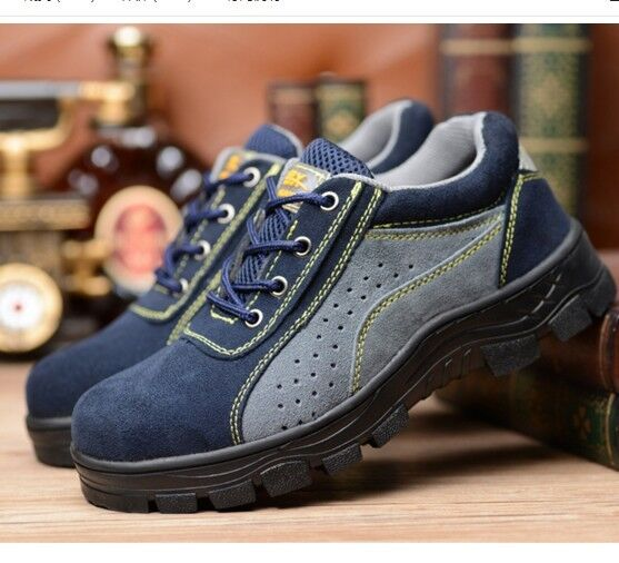 Men's Breathable Camping shoes Non-slip Safety Work shoes Steel Toe Outdoor Boot