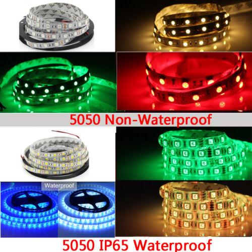 5M 300 LED Strip Light SMD 3528 5050 5630 RGB//White Flexible+Remote+Power Supply