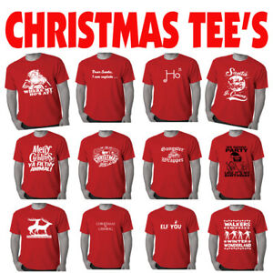 Christmas-T-Shirts-Mens-Xmas-tee-039-s-Funny-T-shirt-offensive-Men-039-s-tshirts-prints