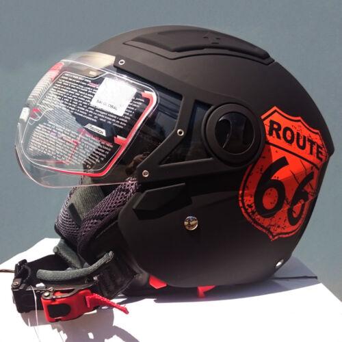 dual visor various colours AS//NZS1698 DVS Open face road helmet adult sizes