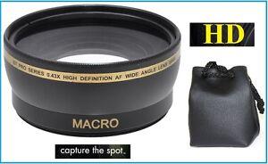 52mm Compatible HD Wide Angle with Macro Lens for PANASONIC DMC-GX1K