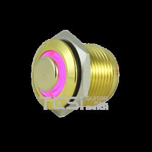 Tesi FILO 16MM LED Momentary Push Button Guitar Kill Switch Gold//Purple