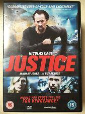 Nicolas Cage Guy Pearce January Jones JUSTICE ~ 2012 Revenge Thriller | UK DVD