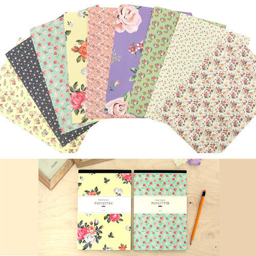 63sheets flower pattern letter lined writing stationery paper pad ebay mightylinksfo