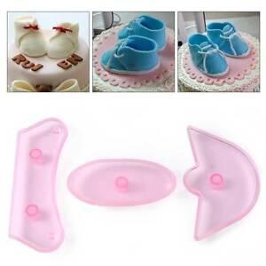 Das Bild Wird Geladen New Baby  Schuhe Ausstecher Kunstoff Fondant Tortendeko Zuckerwerkzeug