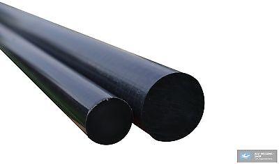 POM Rund Stange schwarz, Rundstab, Rundmaterial, Kunststoff Rund, Modellbau
