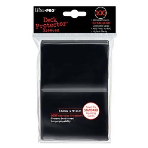 2,500 2500 Ultra Pro BLACK Gaming Sleeves STANDARD Deck Protector Series