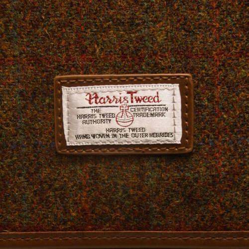 The British Bag Company Stornoway Harris Tweed Briefcase Messenger Bag