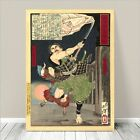 "Vintage Japanese SAMURAI Warrior Art CANVAS PRINT 16x12""~ Kuniyoshi #286"
