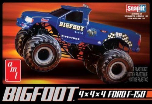 Amt  805 1 3 2 Bigfoot 4x4x4 Ford F-150 Plastik Modelbau Set Neu Im Karton