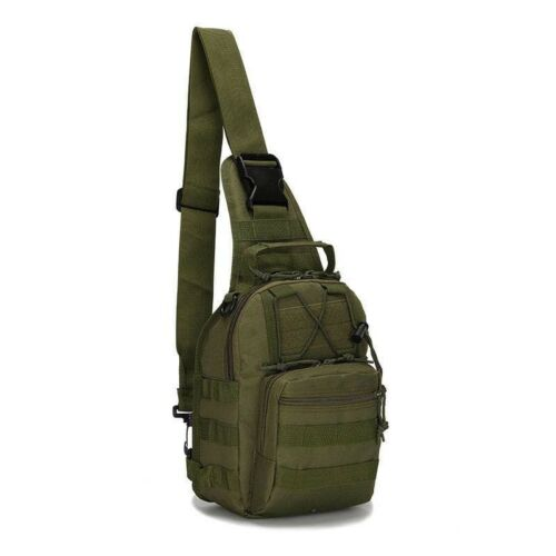 Men Small Canvas Outdoor Tactical Military Chest Bag Messenger Shoulder Bag Gift