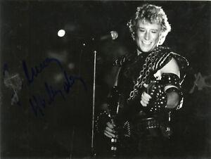 """Johnny HALLYDAY"" Photo originale dédicacée PALAIS DES SPORTS 1982 SMCLdrBc-07210944-451337684"