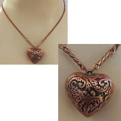 Necklace Heart Pendant Chain Copper Pendant Jewelry Handmade New