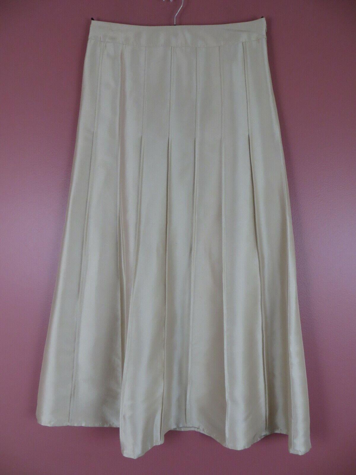 Sk14047-ann Hecho a Medida Mujer 100% Seda  Elegante Maxi Noche Falda Acampanada  centro comercial de moda