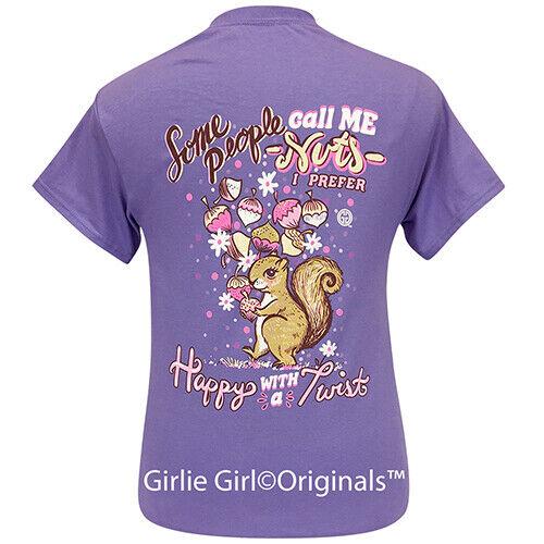 Girlie Girl Originals Tees Happy Twist Violet Short Sleeve T-Shirt - 2279
