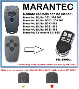 MARANTEC-Digital-D302-D304-868-Universal-Remote-Control-Duplicator-868-35MHz