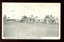 East Africa Christmas Sports 1909 camel racing PPC