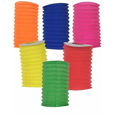 16cm Chinese Paper Lantern  12 Cylinder (6 colour)