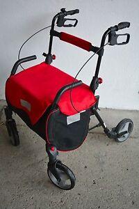 Rollator-Gehwagen-Einkaufshilfe-Einkaufswagen-Gehhilfe-sehr-stabil-NEU-rot