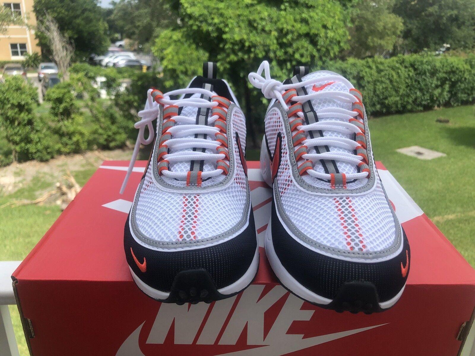 Nike Air Zoom Spiridon '16 White Team orange Black Size 11.5 Running Casual