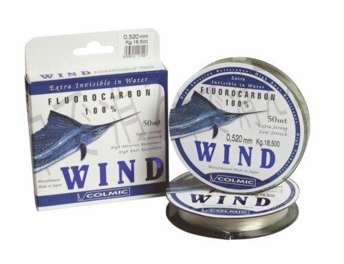 Filo da pesca 0,165 COLMIC WIND 100/% FLUOROCARBON 50mt