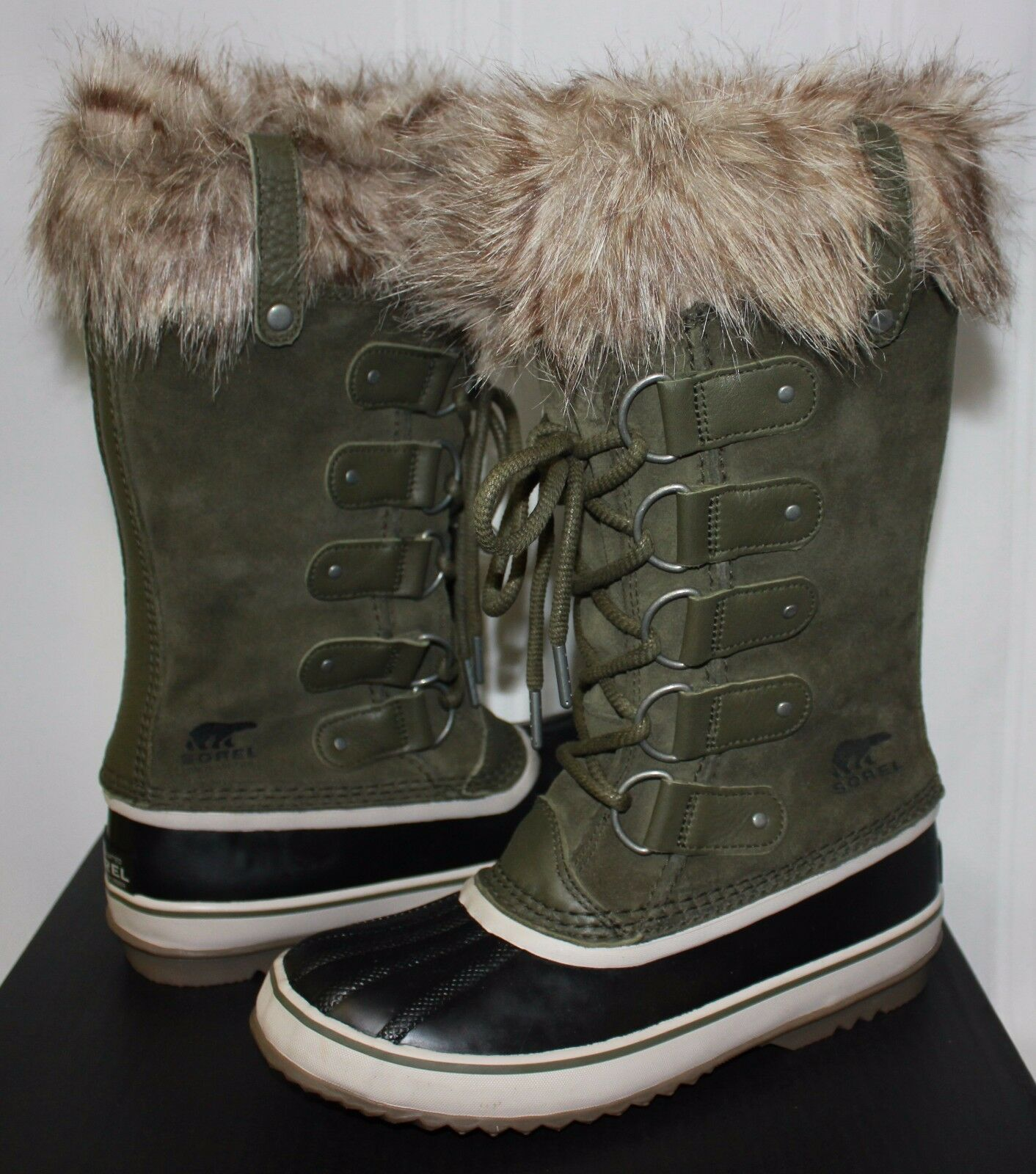 per il commercio all'ingrosso Sorel Donna  Joan of Arctic Arctic Arctic waterproof stivali verde Nori   Stone New With Box   in linea
