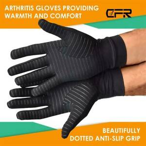 Copper Compression Gloves Arthritis Fit Carpal Tunnel Full Hand Support Pain CFR