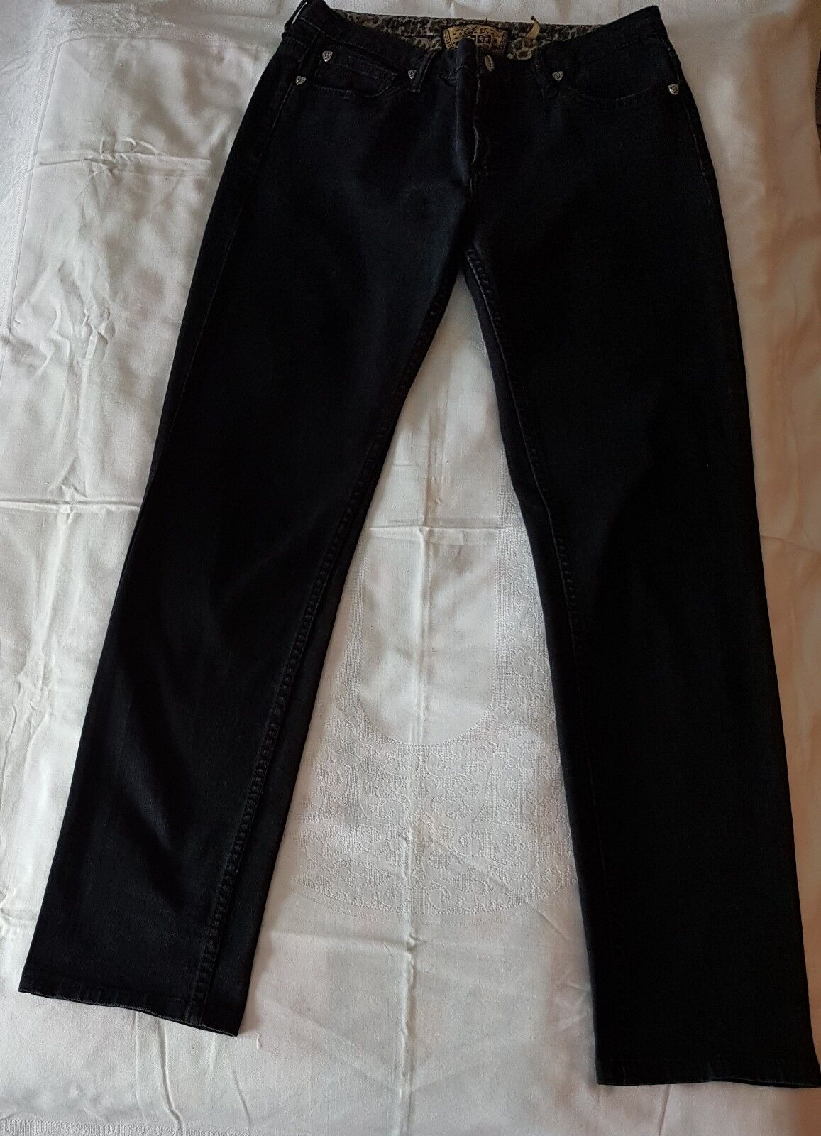 Schwarze Jeans von Blau L.A., Grace, skinny, W29 L34, Damen