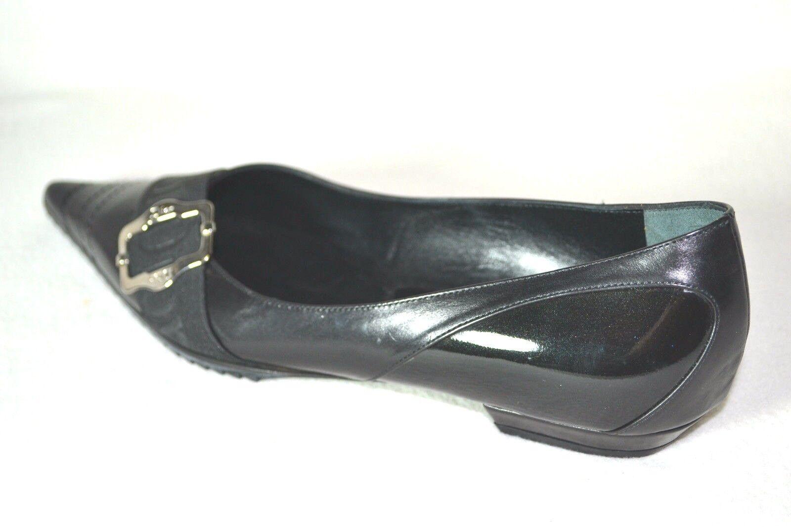 Novedad  dior zapatos zapatos 36 bailarinas Monogram cuero 36 zapatos UK 3 nuevo negro a1dfbe