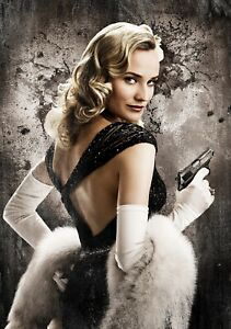 INGLOURIOUS-BASTERDS-Movie-PHOTO-Print-POSTER-Textless-Film-Art-Diane-Kruger-009