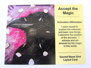 ACCEPT-THE-MAGIC-Grid-Card-Crystal-Healing-Cardstock-4x5inch-ANIMAL-TOTEM-RAVEN