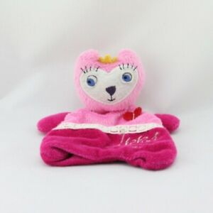 Doudou plat chat rose coeur IKKS - Chat - Lion - Tigre Plat / Semi plat