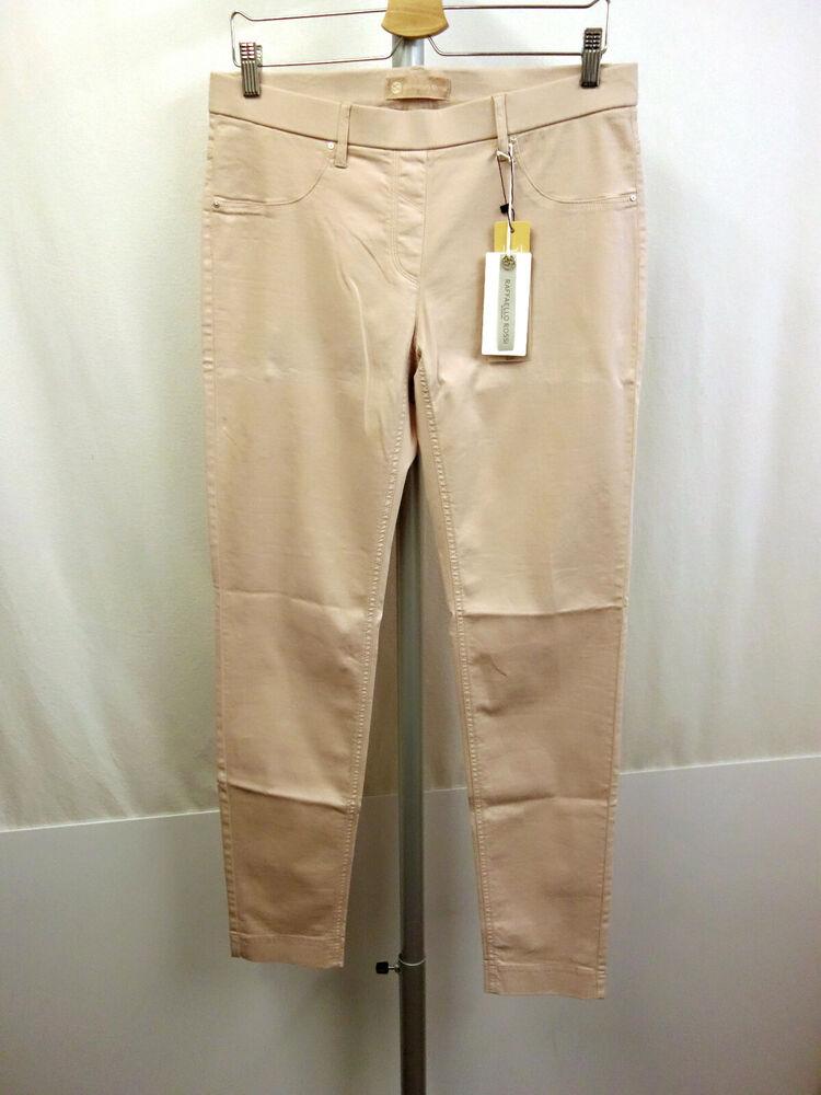 129 € Nouveau Raffaelo Rossi Jova Pantalon Taille 46 Pants Baumwollstretch Nude Beige/rose-h Nude Beige/rose