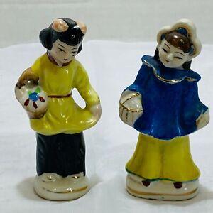 Set Of 2 Vintage Porcelain Made In Occupied Japan 2 Girls Figurines Ebay