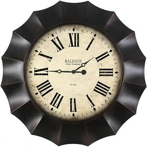30 In Huge Contemporary Round Wall Clock Modern Large