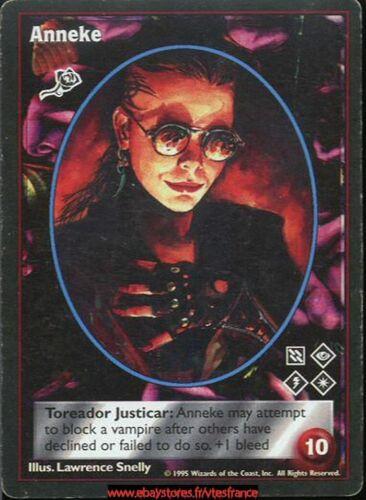 Vampire the Eternal Struggle Toreador Anneke VTES V:TES