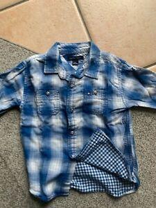 Tommy-Hilfiger-camicia-casua-a-quadretti-azzurra-e-bianca-bambino-4T-4-5-anni