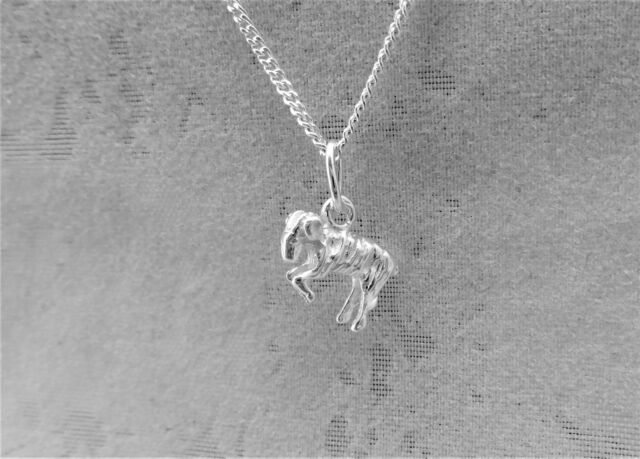 """Sterling Silver (925)  Solid 3D Charm """"Zodiac Aries"""""""