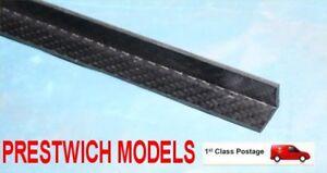 15mm X 2mm 1metre Carbone Angle Préimprégné Brillant Époxy Des Deux côtés